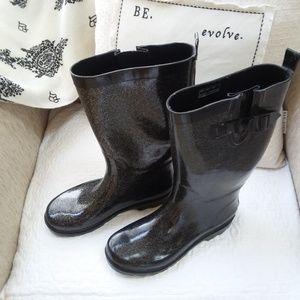CAPELLI Sparkle BLACK RAIN Boots SZ 9